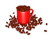 Coffee Beans Mug Animated Clipart, TheTemplateWizard