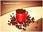 Coffee Beans Mug PowerPoint Template, TheTemplateWizard