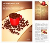 Coffee Beans Mug Word Template, TheTemplateWizard