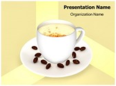 Coffee Cup PowerPoint Template, TheTemplateWizard