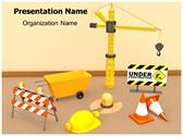 Construction Equipment Animated PowerPoint Template, TheTemplateWizard