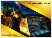 Construction JCB Truck PowerPoint Template, TheTemplateWizard