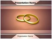 Couple Wedding Rings PowerPoint Template, TheTemplateWizard