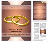 Couple Wedding Rings Word Template, TheTemplateWizard