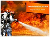 Courageous Fire Fighters PowerPoint Template, TheTemplateWizard