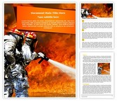 Courageous Fire Fighters Word Template, TheTemplateWizard