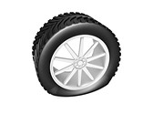 Deflated Tyre Clipart Image, TheTemplateWizard