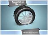 Deflated Tyre PowerPoint Template, TheTemplateWizard