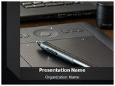 Designing Pen Tablet PowerPoint Template, TheTemplateWizard