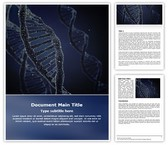 Dna Free Word Template, TheTemplateWizard