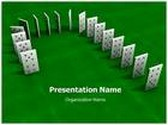 Domino Falling Animated PowerPoint Template, TheTemplateWizard