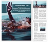 Drowning Free Word Template, TheTemplateWizard