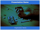 Drug Addiction Free PowerPoint Template, TheTemplateWizard