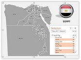 Egypt PowerPoint Map, TheTemplateWizard
