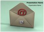 Email Security Key Animated PowerPoint Template, TheTemplateWizard