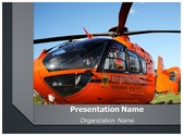 Emergency Rescue Helicopter PowerPoint Template, TheTemplateWizard