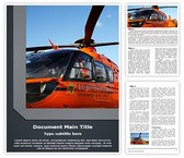 Emergency Rescue Helicopter Word Template, TheTemplateWizard