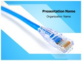 Ethernet Optical Fibre PowerPoint Template, TheTemplateWizard