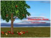 Falling Apple Gravity PowerPoint Template, TheTemplateWizard