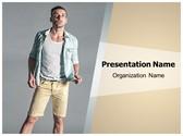 Fashion Men Shorts PowerPoint Template, TheTemplateWizard