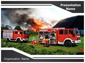 Fire Truck PowerPoint Template, TheTemplateWizard