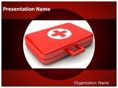 First Aid Kit Box PowerPoint Template, TheTemplateWizard