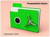 Folder Lock Animated PowerPoint Template, TheTemplateWizard