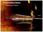 Fountain Pen Nib PowerPoint Template, TheTemplateWizard