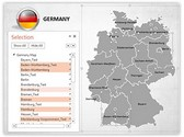 Germany PowerPoint Map, TheTemplateWizard