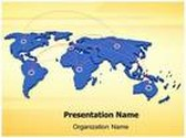 Global Connection Map Animated PowerPoint Template, TheTemplateWizard