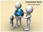 Globe And Family Animated PowerPoint Template, TheTemplateWizard