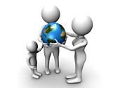 Globe And Family Clipart Image, TheTemplateWizard