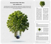 Green Environmental Energy Free Word Template, TheTemplateWizard