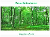 Green Forest Free PowerPoint Template, TheTemplateWizard