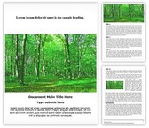 Green Forest Free Word Template, TheTemplateWizard