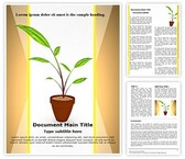 Growing Plant Word Template, TheTemplateWizard