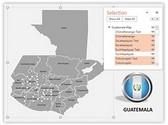 Guatemala PowerPoint Map, TheTemplateWizard