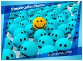 Happy Sad Emoticons PowerPoint Template, TheTemplateWizard