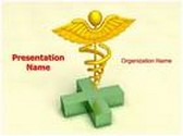Healthcare Symbol Caduceus Animated PowerPoint Template, TheTemplateWizard
