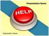 Help Button Animated PowerPoint Template, TheTemplateWizard