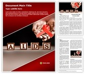 Hiv Aids Word Template background with 3 PPT slides
