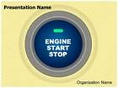 Ignition Button Animated PowerPoint Template, TheTemplateWizard