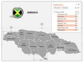 Jamaica PowerPoint Map, TheTemplateWizard