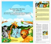 Jungle Word Template background with 3 PPT slides