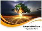 Lighting Tree PowerPoint Template, TheTemplateWizard