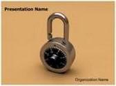 Lock Animated PowerPoint Template, TheTemplateWizard