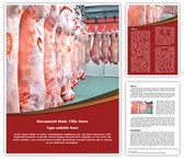 Meat Factory Word Template background with 3 PPT slides