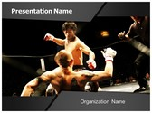 Mixed Martial Arts PowerPoint Template, TheTemplateWizard
