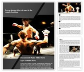 Mixed Martial Arts Word Template, TheTemplateWizard