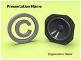 Music Copyright Law Animated PowerPoint Template, TheTemplateWizard